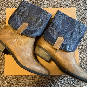 "Fold Over Ankle Boots Western ""Marx"" Pointy Toes"
